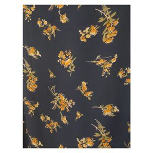 Forever 21 Tops - Navy Blouse with Yellow Flowers